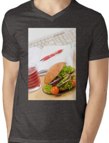 Sandwich with vegetables and juice  Mens V-Neck T-Shirt