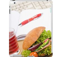 Sandwich with vegetables and juice  iPad Case/Skin