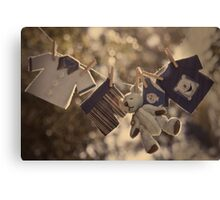 Snips and snails and puppy dog tails.... Canvas Print
