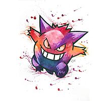 """King of Ghosts"". Pokemon ""Gengar"" from the videogame Pokémon by Nintendo.  Photographic Print"