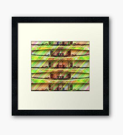 A Very Dull Building Duvet Framed Print