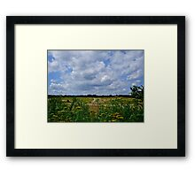 Summer Clouds Passing Over Framed Print