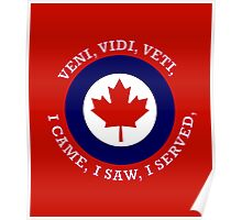 Royal Canadian Air Force Roundel Shield Poster