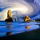 12 Apostles with swirl cloud by Andrew (ark photograhy art)
