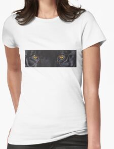 Black Panther Eyes Womens Fitted T-Shirt