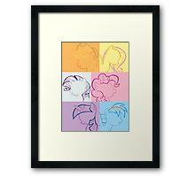 6 Main_squares 1 poster/card/print Framed Print