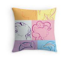 6 Main_squares 1 poster/card/print Throw Pillow
