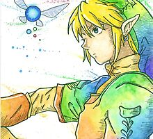 """""""So far, but so close"""". Character """"Link"""", from the videogame """"The Legend of Zelda"""" by Nintendo. by LemGeekArt"""