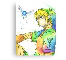 """So far, but so close"". Character ""Link"", from the videogame ""The Legend of Zelda"" by Nintendo. Canvas Print"