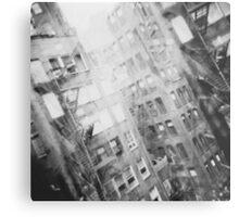 New York Double Exposure Metal Print