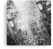 New York Double Exposure Canvas Print