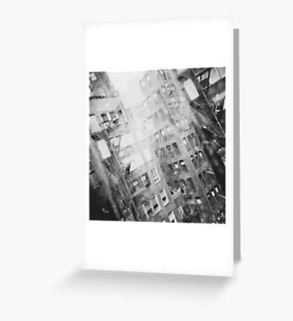 New York Double Exposure Greeting Card