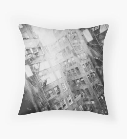 New York Double Exposure Throw Pillow