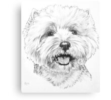 Happy West Highland White Terrier Canvas Print