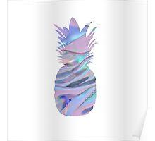 Rainbow Pineapple  Poster