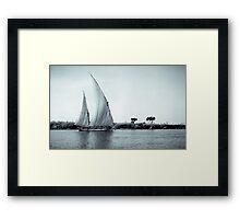 Felucca on Nile Framed Print