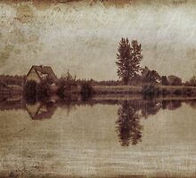 The old house on the lake by Giuseppe Esposito
