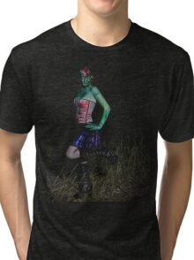 Frankenstein Pin up tee Tri-blend T-Shirt
