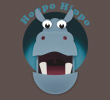 Hoppo Hippo - kiekeboo Baby Tee