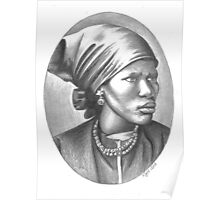 Lindiwe - portrait of an African woman Poster