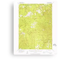 USGS Topo Map Oregon Red Butte 282826 1955 62500 Canvas Print
