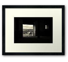 Between worlds Framed Print