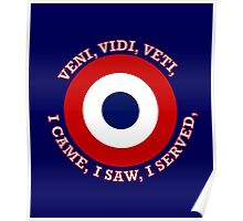 French Air Force VVV Roundel Poster