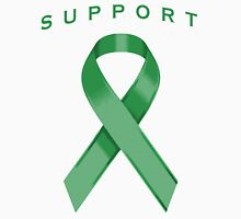 Green Awareness Ribbon of Support Unisex T-Shirt