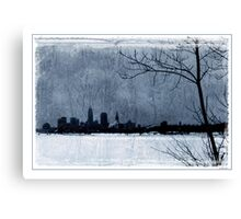Icy Cleveland Canvas Print