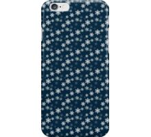 Small White Snowflake On Christmas Blue iPhone Case/Skin