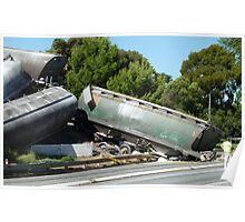 train crash in Narrandera,  nose dive onto the Leeton road Poster