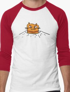 Grumpy Tunnel Cat Men's Baseball ¾ T-Shirt