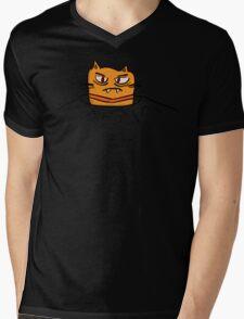 Grumpy Tunnel Cat Mens V-Neck T-Shirt