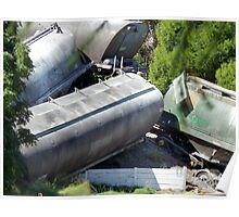 Train crash Narrandera carriages Poster