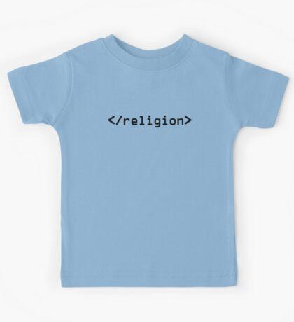End Religion IT geek HTML Kids Tee