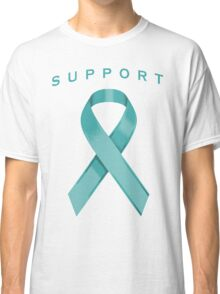 Teal Awareness Ribbon of Support Classic T-Shirt