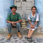Happy couple.  Antigua Guatamala by joewdwd