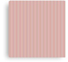 Gold Silver and Red Christmas Stripes Canvas Print
