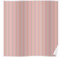 Gold Silver and Red Christmas Stripes Poster