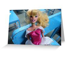 barbie goes to school Greeting Card