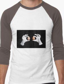 whole eggs in white gloves Men's Baseball ¾ T-Shirt