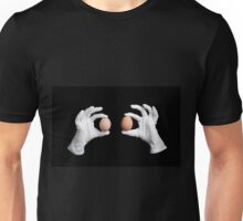 whole eggs in white gloves Unisex T-Shirt