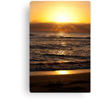 Golden Dawn In Miami Canvas Print