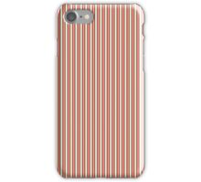 Red Green & Silver Christmas Pinstripes iPhone Case/Skin