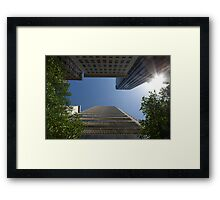 Tower between the trees Framed Print