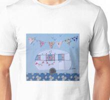 Retro white caravan  Unisex T-Shirt