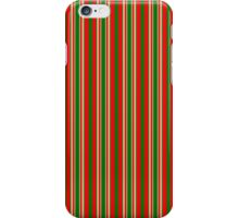 Red Green & Gold Christmas Stripes iPhone Case/Skin