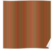 Red Green & Gold Christmas Stripes Poster