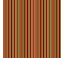 Red Green & Gold Christmas Stripes Photographic Print