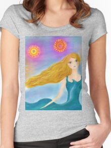 Sea and Sun Girl Women's Fitted Scoop T-Shirt
